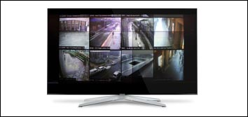 Monitor used for video surveillance